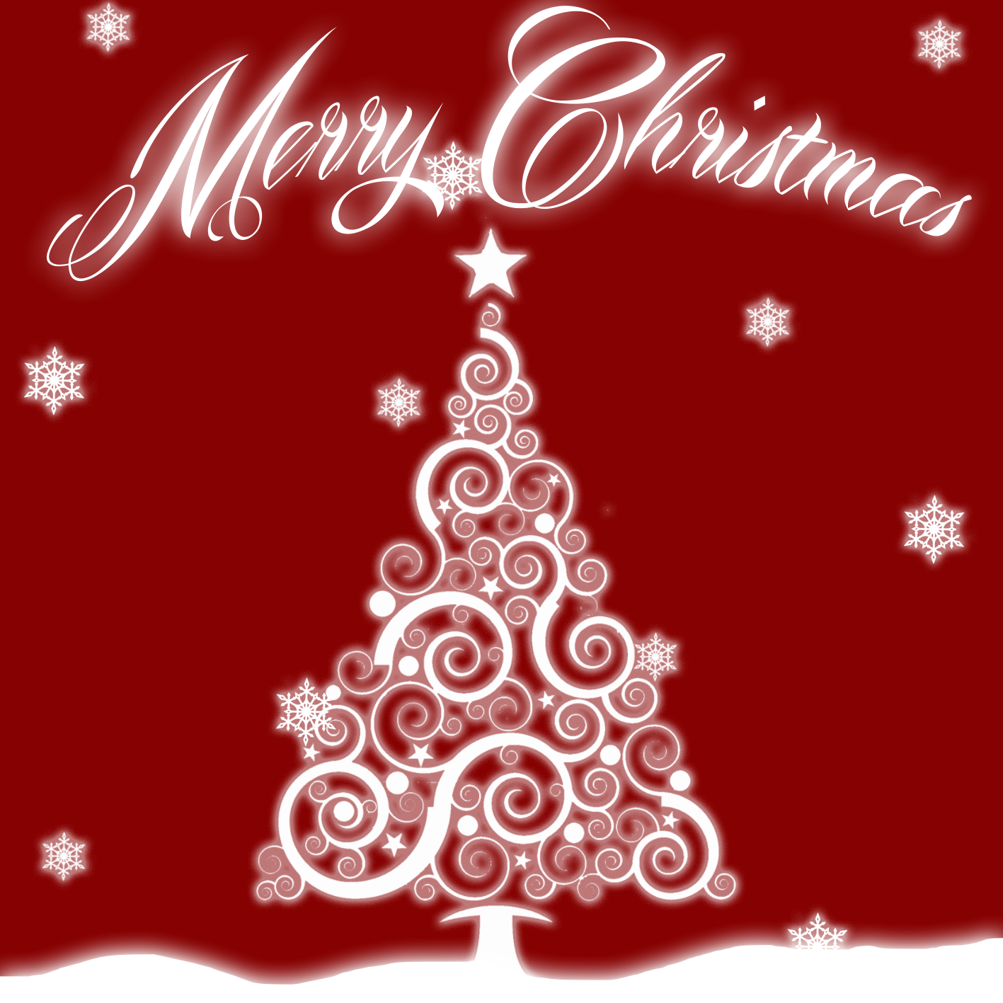 Christmas card, graphic design. Lillestrøm High School