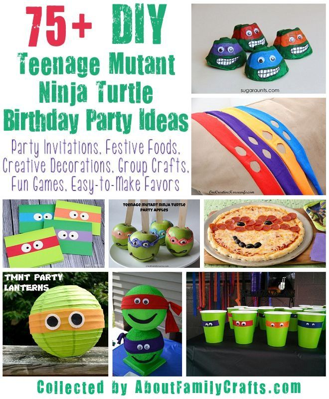 75 Diy Teenage Mutant Ninja Turtles Birthday Party Ideas Ninja