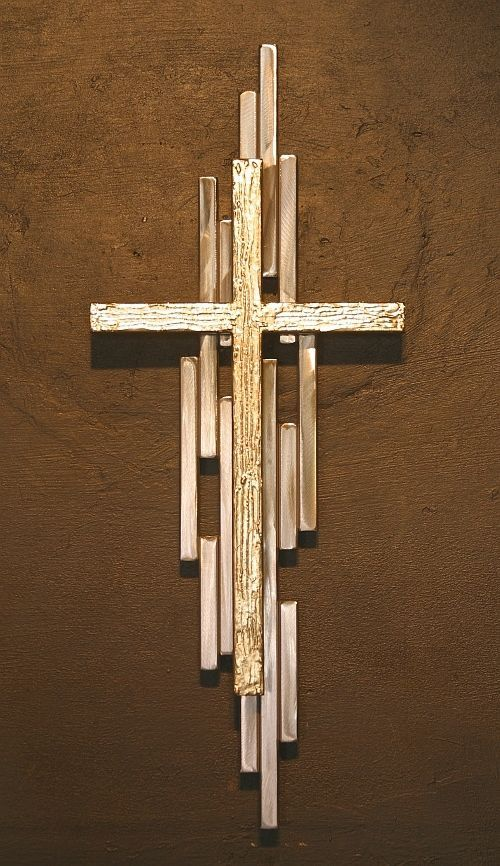 attractive Cross Wall Art Part - 12: Wall Art Metal Cross Mid Century Modern Religious Statues Hand Made US  Artist