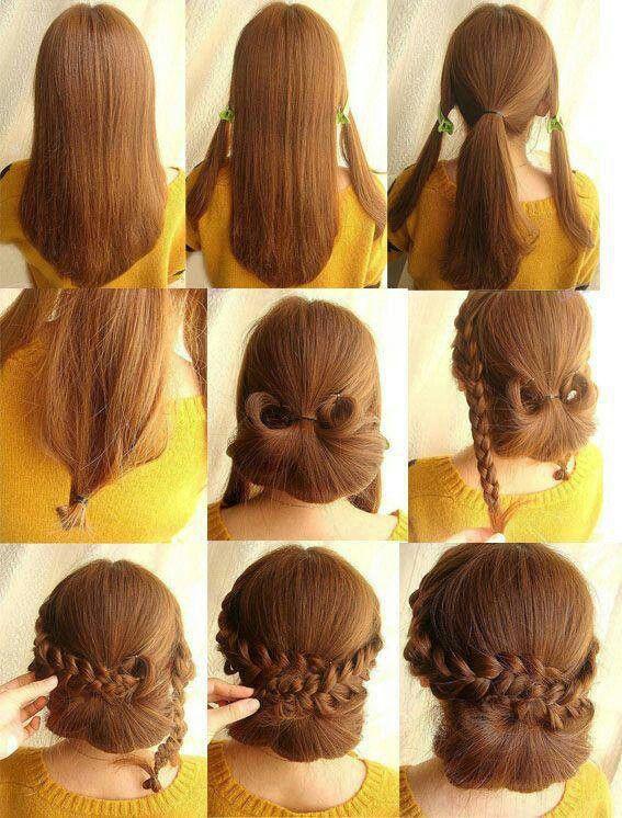 Low Braided Bun Updos Tutorials Popular Haircuts Hair Styles Hair Hacks Diy Hairstyles