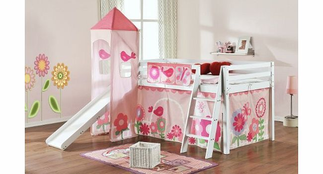 Cabin Bed With Slide And Hello Kitty