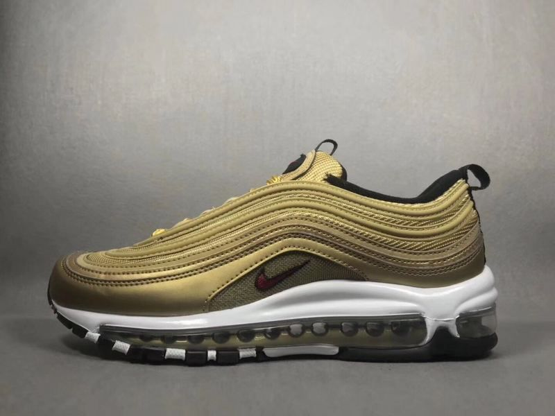 outlet store 15df3 2f54e Spring Summer 2018 Fashion Unisex Nike x Undefeated Air Max 97 Metallic  Gold Varsity Red 885691 700