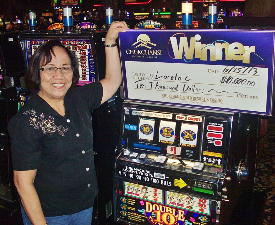 Loreto Won A 10 000 Jackpot Playing Double 10x Pay Chukching Casino Resort Jackpot Winner