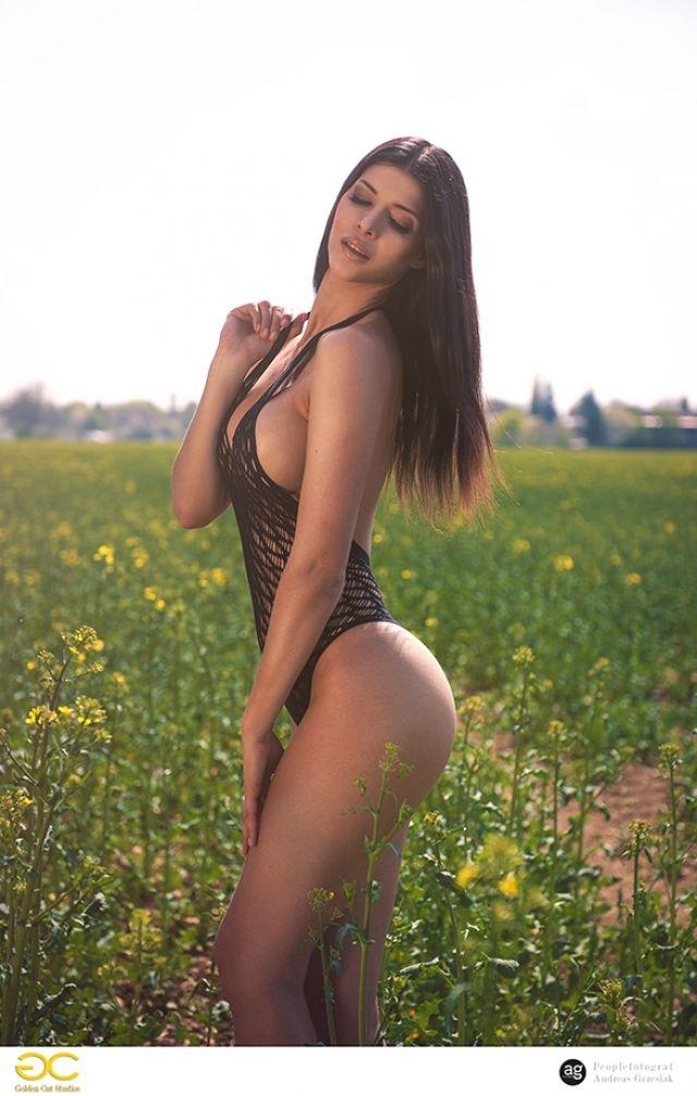 Micaela Schäfer in mesh swimsuit #MicaelaSchaefer