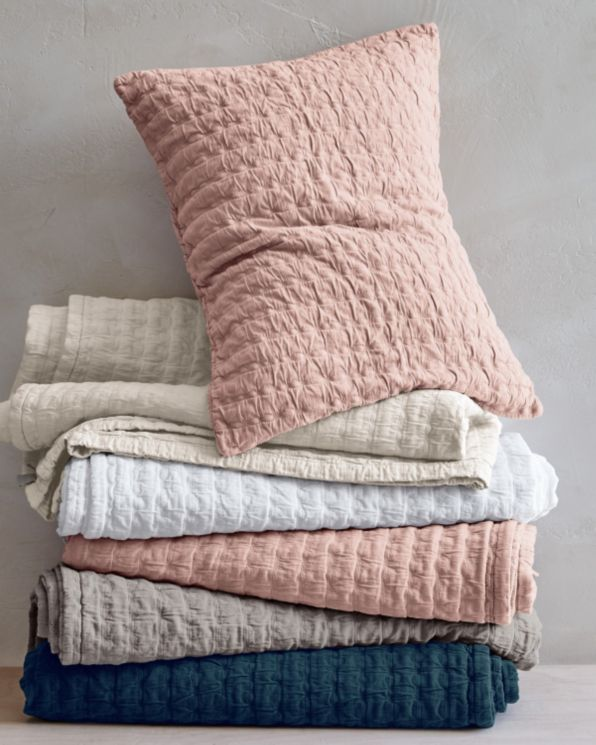 Eileen Fisher Rippled Organic Cotton Coverlet And Shams   Garnet Hill