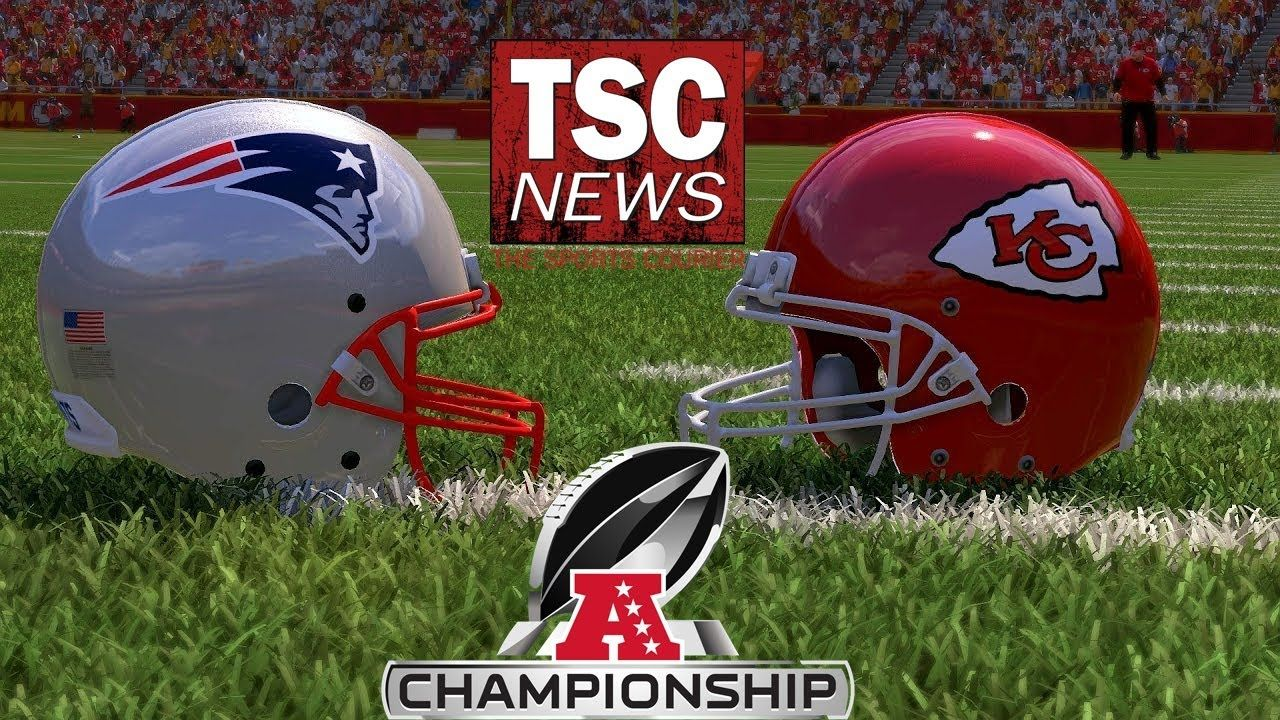 Afc Championship Game Patriots Vs Chiefs Madden19 Simulation With Images Championship Game Afc Championship Football Helmets