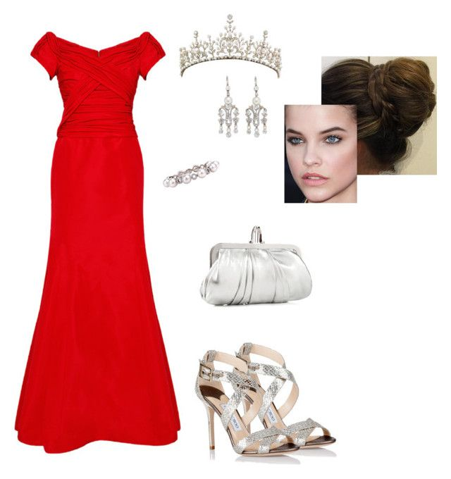 """""""Untitled #8601"""" by gracebeckett on Polyvore featuring Carolina Herrera, Bailey Banks & Biddle, Jimmy Choo and Christian Louboutin"""