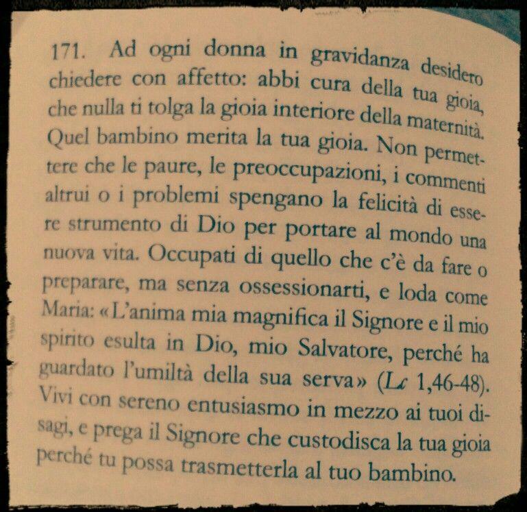 "Tratto da ""Amoris laetitia"" di Papa Francesco"