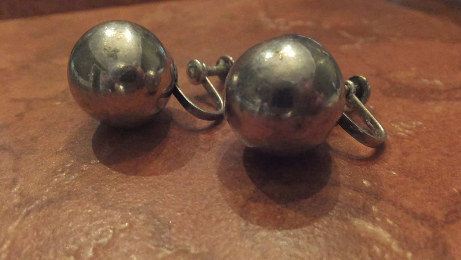 Vintage Sterling Silver Handmade Ball Earrings Marked Mexico Silver Jewelry by Stellavintagejewelry on Etsy