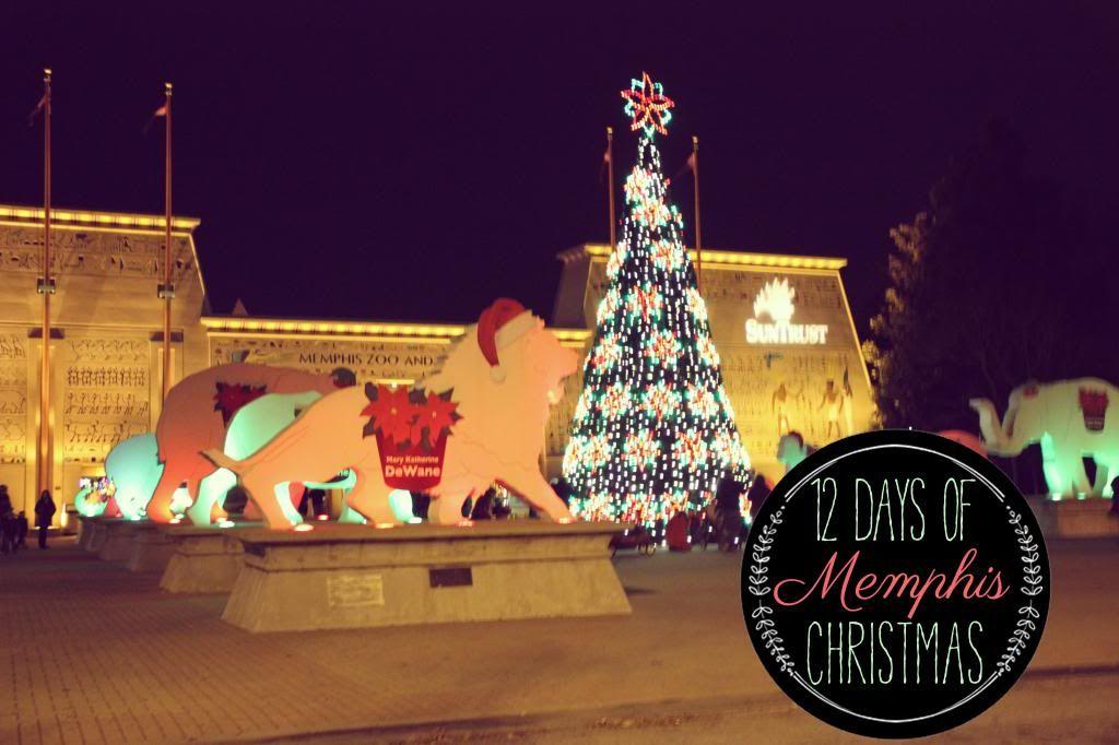 Elegant 12 Days Of Memphis Christmas: Zoo Lights // Ten Feet Off Beale Http: