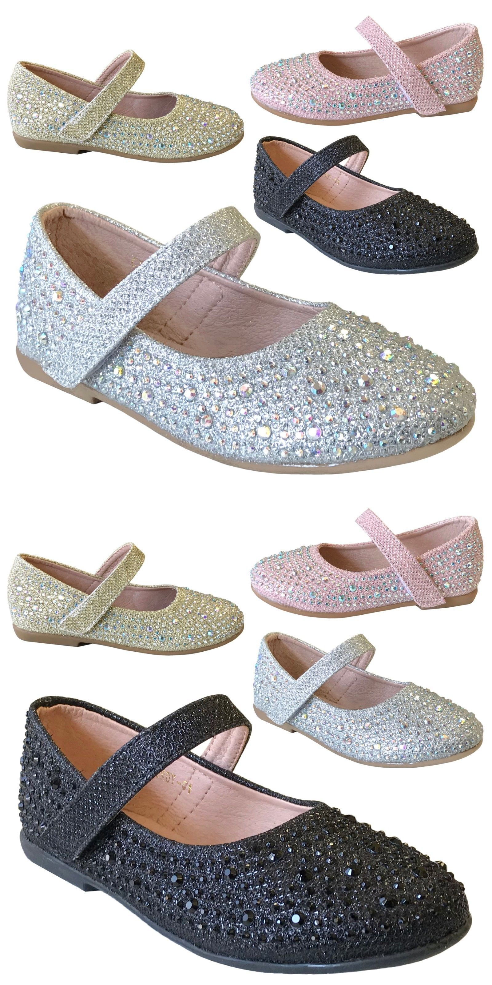 408d3f67d Baby Shoes 147285  New Girls Rhinestone Flats Round Toe Mary Jane Strap  Shoe Baby Toddler Kids 5-12 -  BUY IT NOW ONLY   15.95 on  eBay  shoes   girls ...