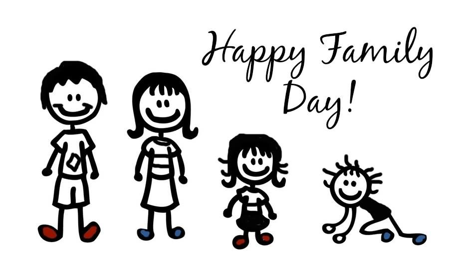 Happy Family Day Clipart Image