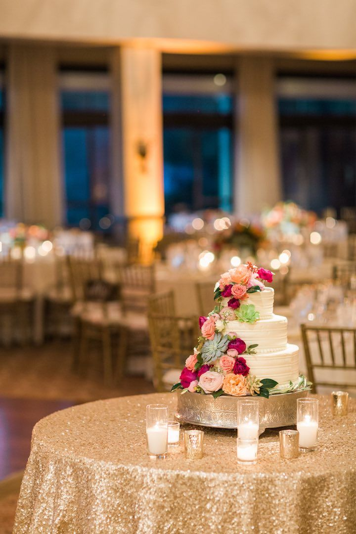 Featured Photographer: Valorie Darling Photography; wedding reception cake table idea