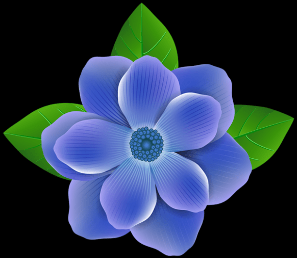 #blueflowerwallpaper