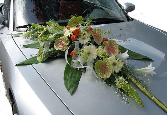 Fleur Et Composition Florale Voiture Mariage Recherche Google