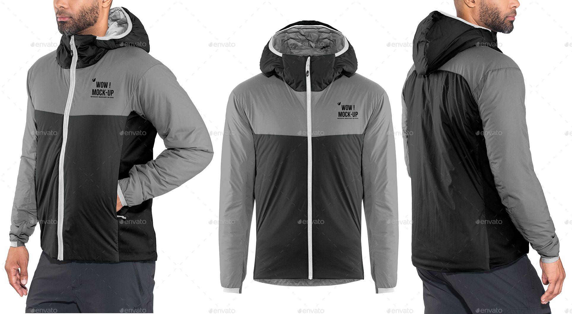Download Men S Winter Hooded Jacket Mock Up Ad Jacket Sponsored Mock Mock Hooded Men Hooded Jacket Men Winter Jackets