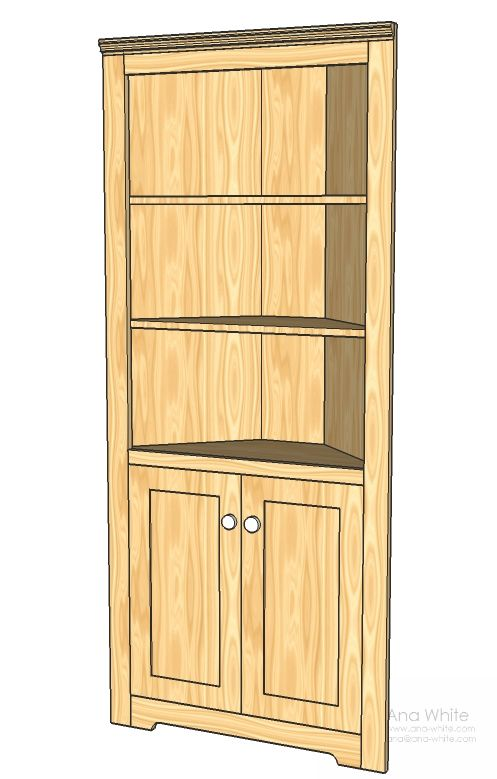 This corner cupboard can turn an empty corner into a