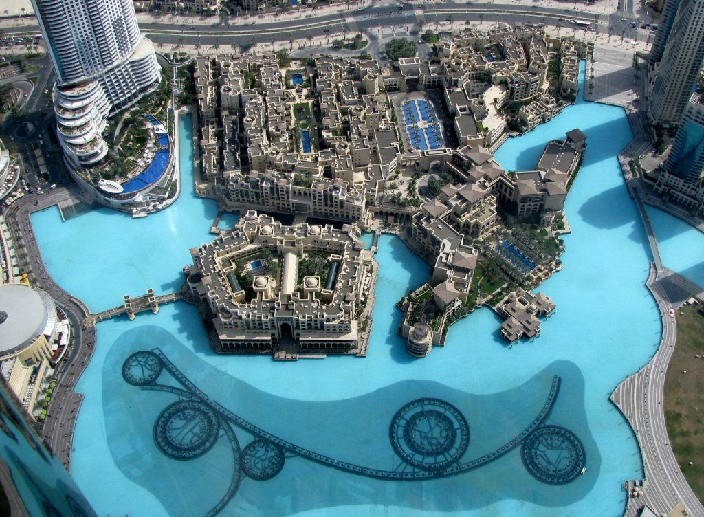 View From The Burj Khalifa In Dubai Dubai Mall Souk Al