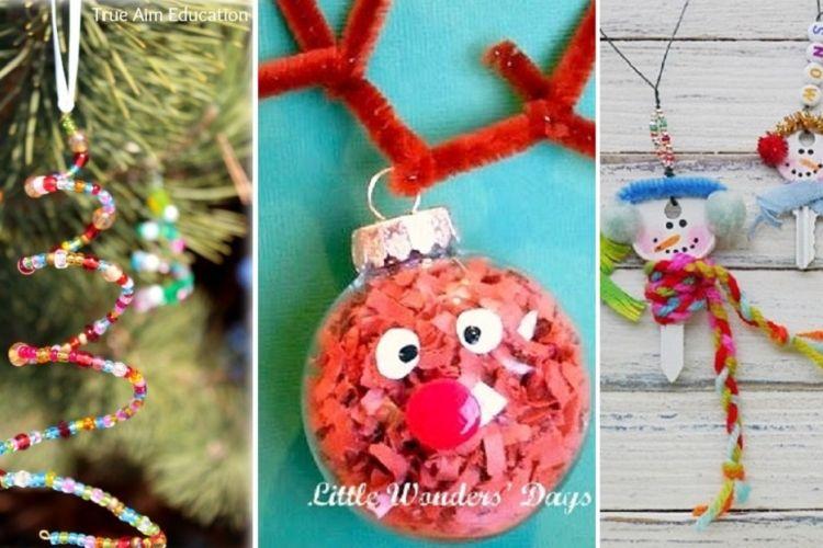 12 décorations de sapin de Noël que les enfants pourront facilement bricoler eux même!