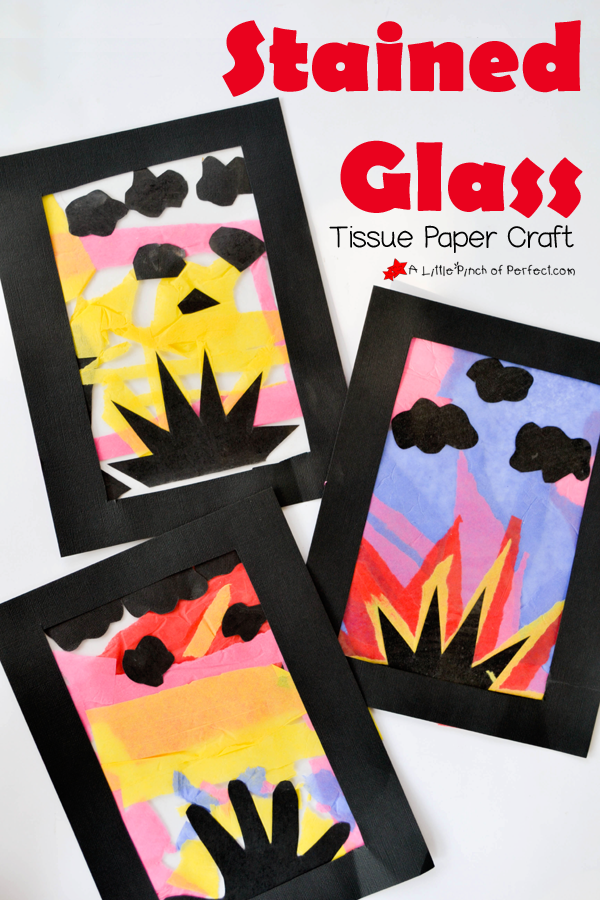 Glowing Sunset Tissue Paper Craft For Kids No Glue Or Scissors Needed So Of