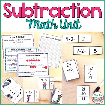 Subtraction Concepts Special Education Math Unit Special