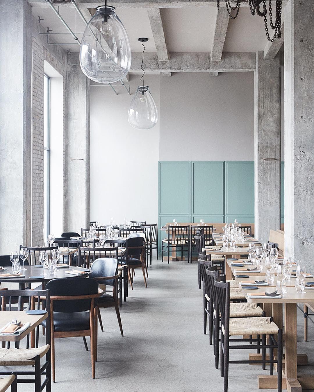 Interiors restaurant 108 space copenhagen