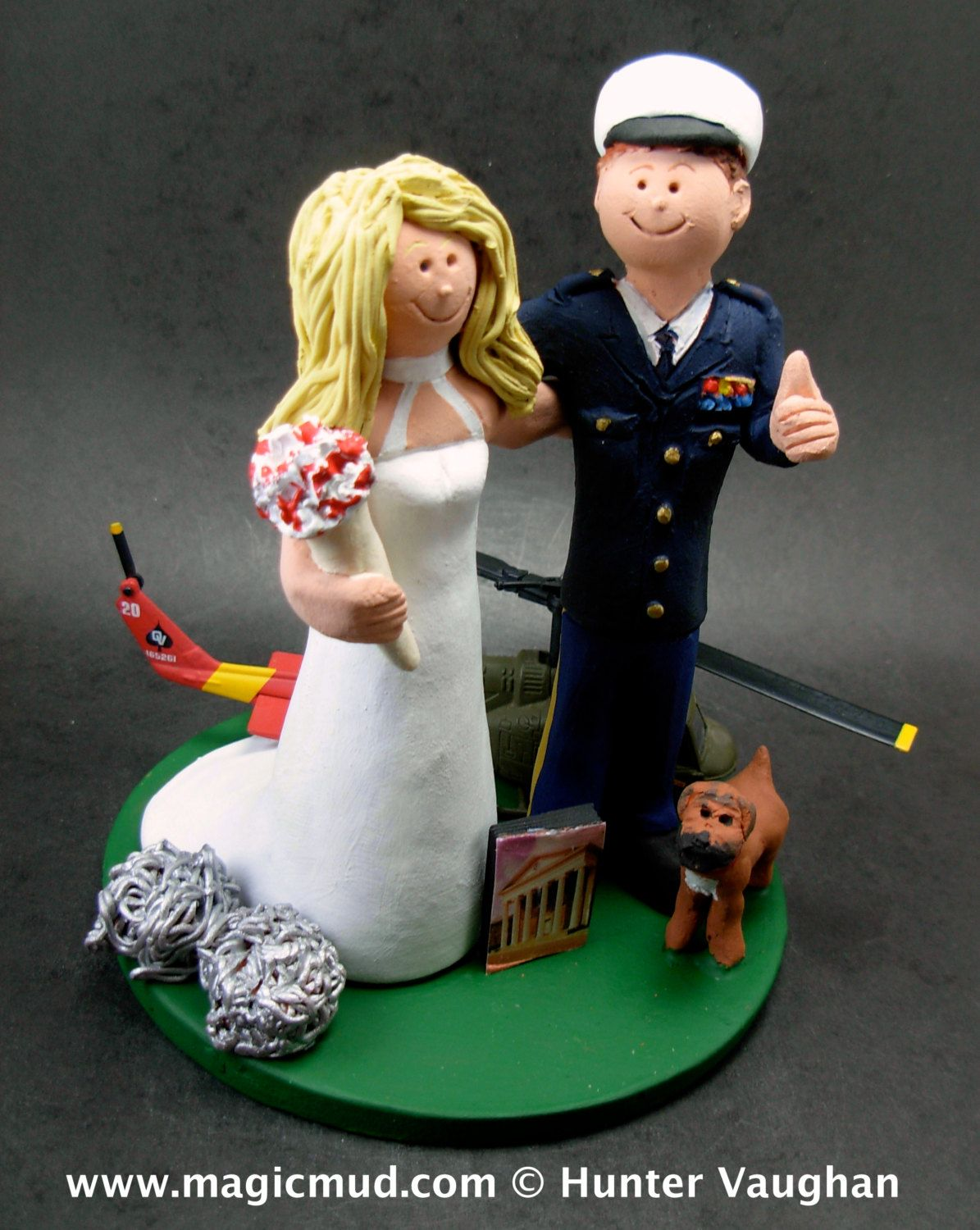 Dress Blues Wedding Cake Topper Military Anniversary CakeTopper Army Soldiers