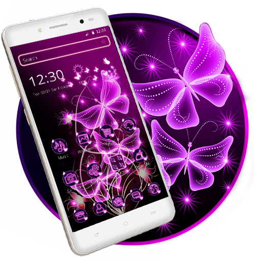 neon #butterfly #2dtheme is a beautiful theme to download! It will