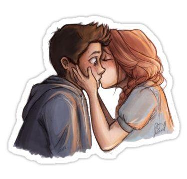 Stydia first kiss Sticker