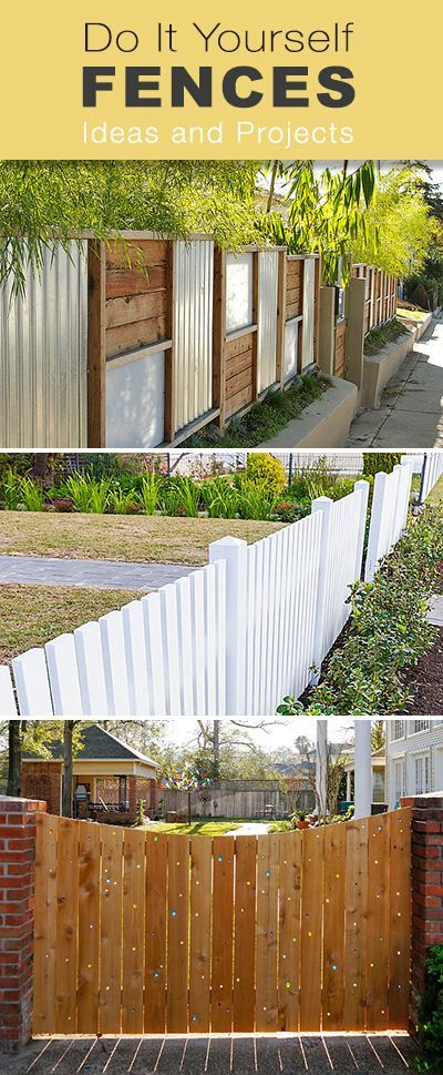 Do It Yourself Fences � Lots of different style DIY Fence projects!