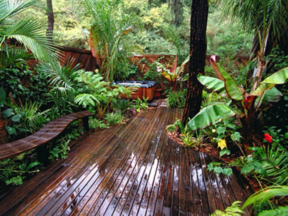 Tropical garden balcony. | Tropical garden design, Indoor ... on Small Tropical Backyard id=41167