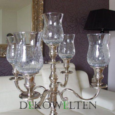 gro er glasaufsatz crackle klar glas teelichthalter f. Black Bedroom Furniture Sets. Home Design Ideas
