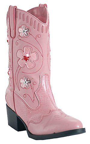 bb92e3d35df Roper Childrens Pink Light Up Western Fashion Boots | These shoes ...
