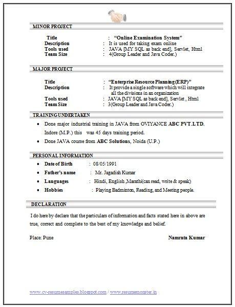 Computer Science Engineering Resume - http\/\/topresumeinfo - resume for computer science