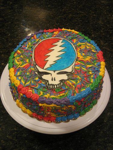 Grateful Dead Cake in 2019 | Grateful Dead | Grateful dead, Grateful ...