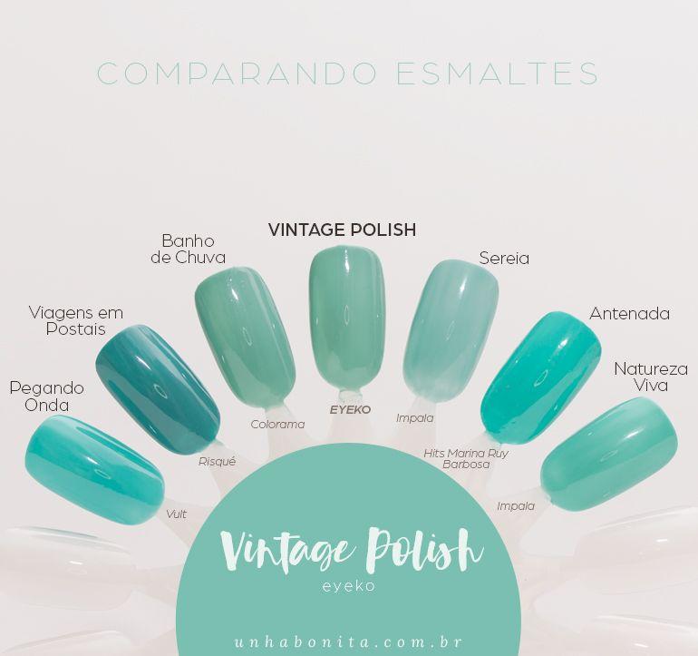 Comparando o Vintage Polish, Eyeko   Nail manicure, Dupes and Pedicures