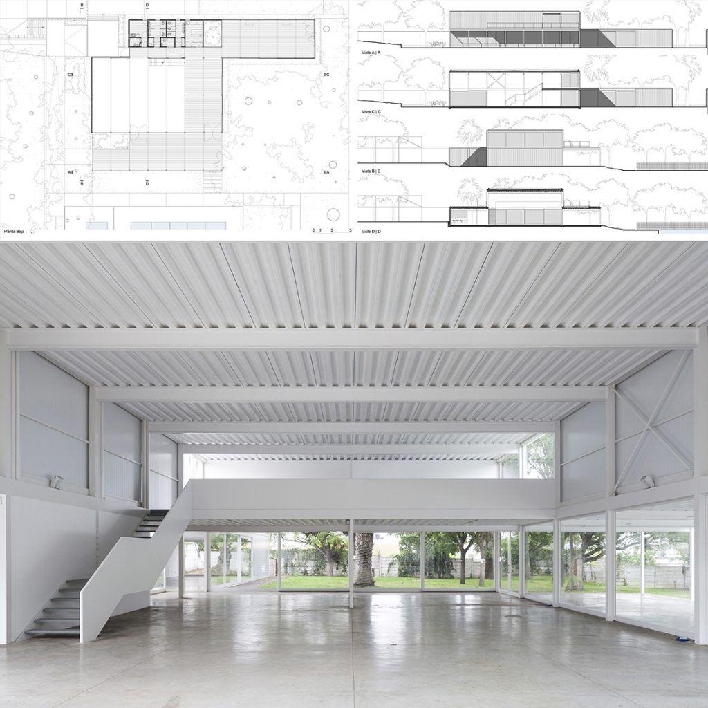 Sal n de usos m ltiples en centro comunitario for Salon de usos multiples programa arquitectonico
