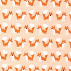Foxes Pink - Fanfare Flanelle Bio
