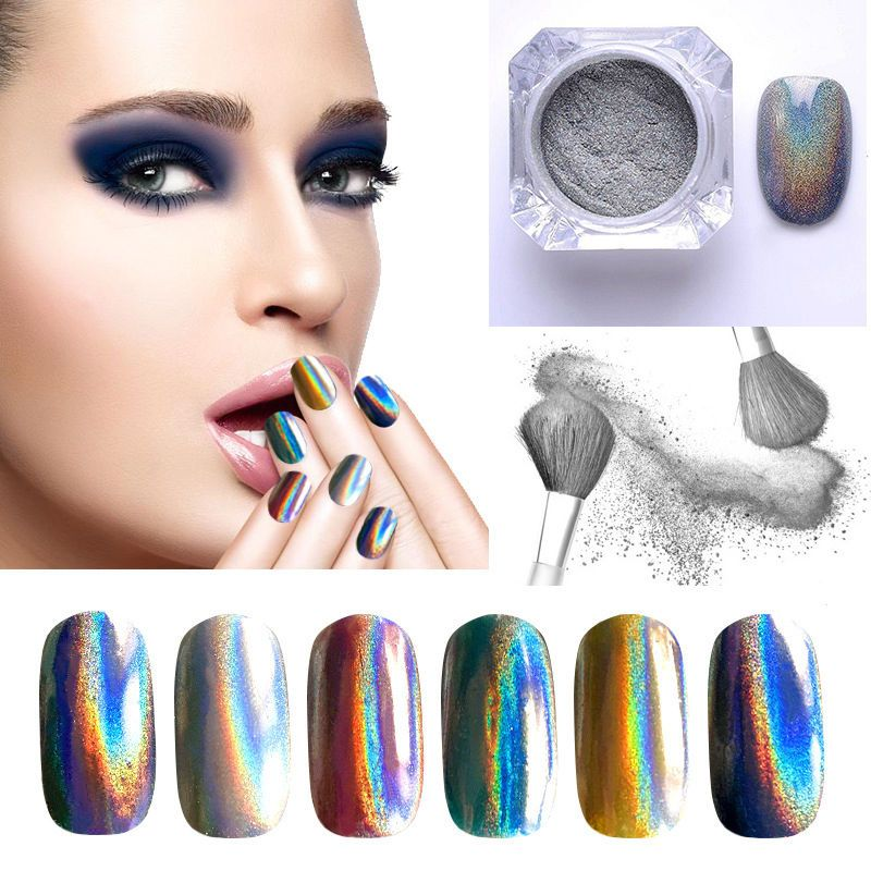 Extra Fine Holographic Chrome Nail Art Powder: Details About Holographic Colorful Nails Effects Ultra