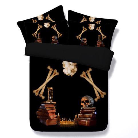 Skull Bedding Sets Duvet Cover, King And Queen Skull Bedding