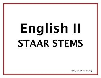 2017 English II STAAR Question Stems   English ii, This or ...
