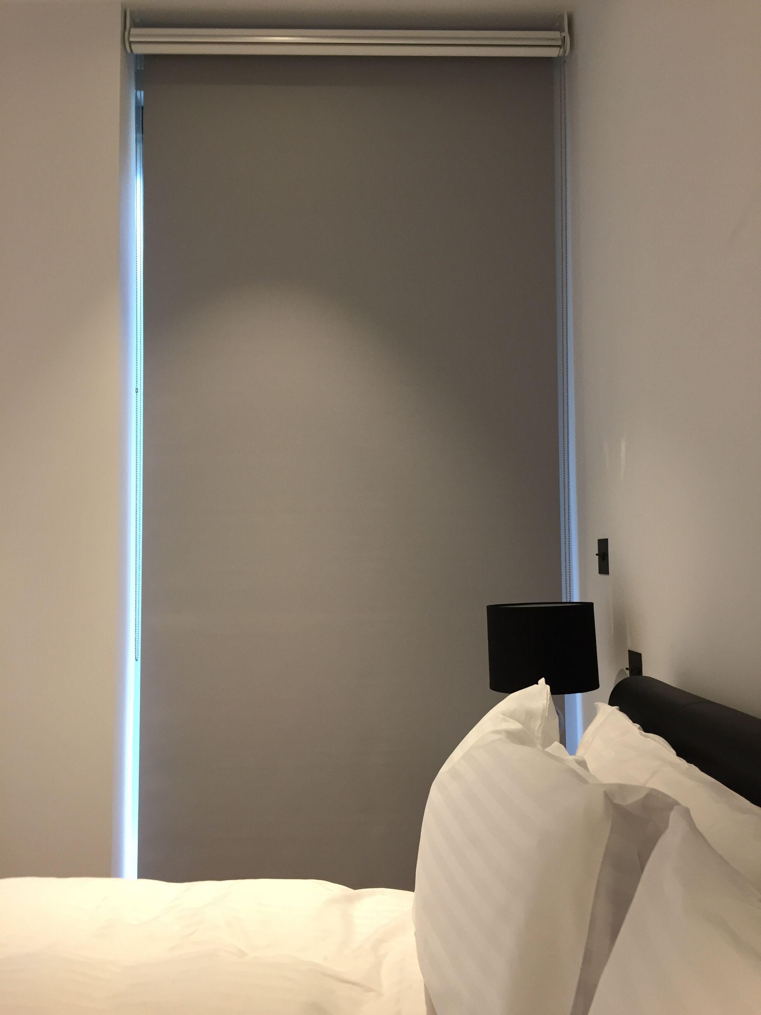 Double/dual Roller Blinds Showing The Blackout Blind Down | Bedroom Blind |  Blind For