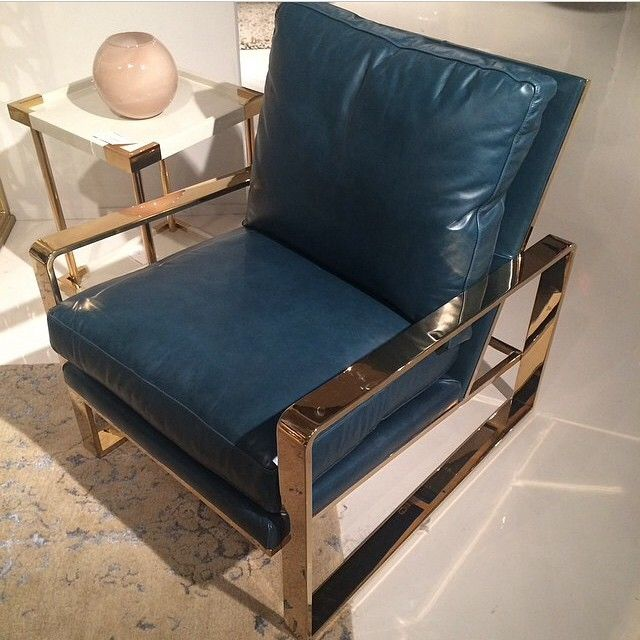 This Peacock Leather Chair With Brass Frame By Bernhardtinc Is Amazing It Would Work Perfectly In The Living Room I Was Working On Yesterday Repost Tracery