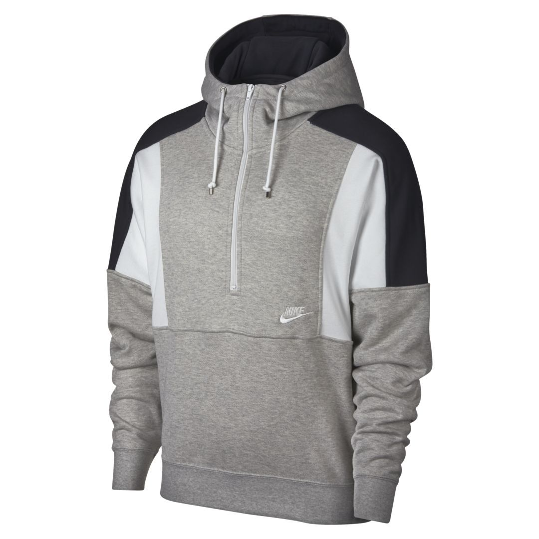 Nike Sportswear Men's Fleece Half Zip Hoodie Size 2XL (Grey