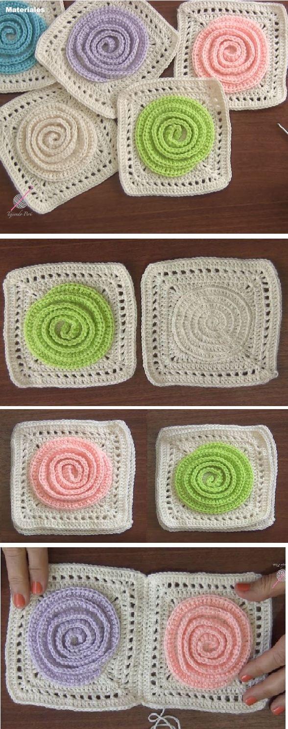 Granny Spiral | Crochet | Pinterest | Stricken, Deckchen und ...