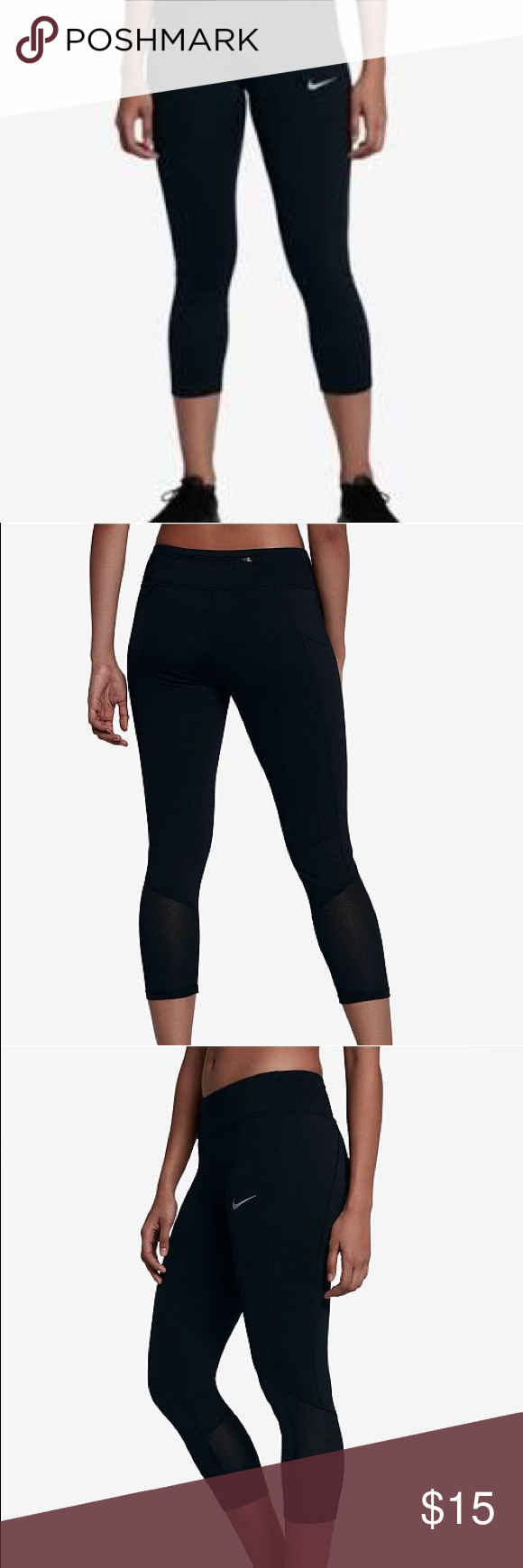 sports shoes 9b6ec 1d3f7 Racer Dri-FIT Cropped Running Leggings Worn, some fuzz that will require  some type of deep removal (dry cleaners) Nike Other