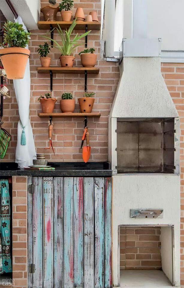Churrasco casas de banho Pinterest - küche mit grill