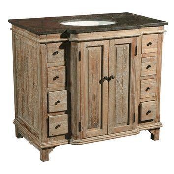 Gallery One Furniture Classics LTD Single Reclaimed Pine Bathroom Vanity Set u Reviews Wayfair