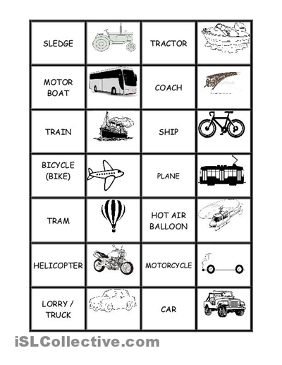 Means Of Communication Worksheets Good Transportation Scooters For