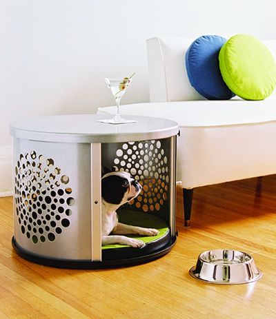 bowhaus modern dog furniture a modern cozy space for the dog while rh pinterest com Modern Dog Crate Furniture Wood Dog Beds Furniture